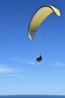 Paragliding, Paraglider, Take Off, Fly Away