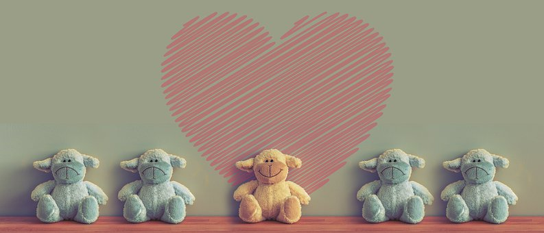 Teddy Bears, Stuffed Animals, Toys, Smile, Positive