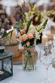Table Decorations, Wedding, Flowers, Garden Party