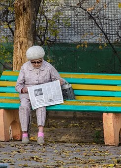 Woman, Newspaper, Grandma, Age, Grown Up, Reading, Info