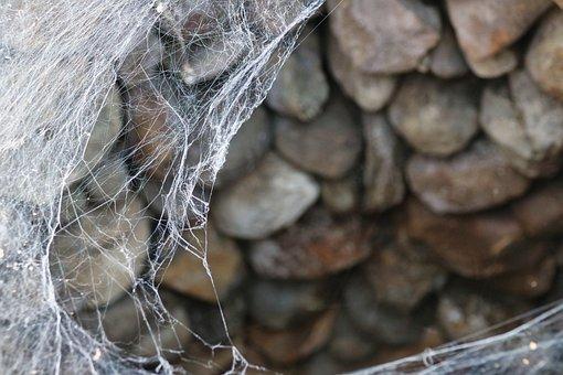 Fountain, Stones, Spider, Web, Mystical, Architecture