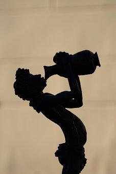 Man, Silhouette, Sculpture, Wine, Character, Art