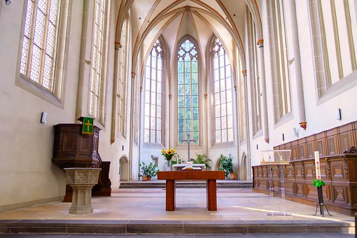 Building, Church, Nave, Window, Architecture, Interior