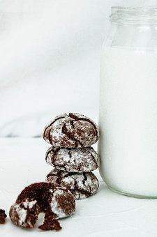 Milk, Cookies, Chocolate, Dessert, Sweet, Home
