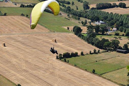 Paragliders, Aircraft, Free Flight, Paraglider Tandem
