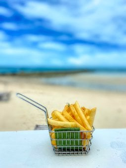 Fries, Shopping Cart, Restaurant, Eat By The Sea