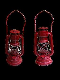 Lamp, Petrol, Lantern, Vintage