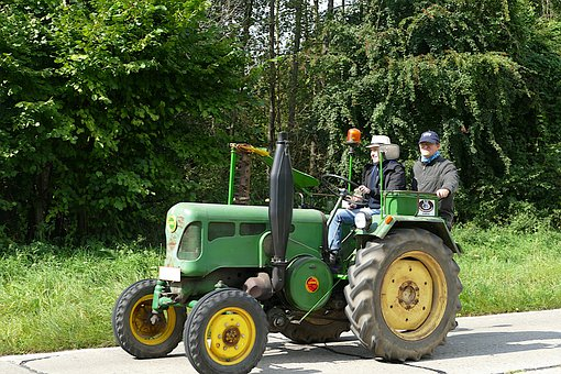 Tractor, Agricultural Machinery, Grassland, Pasture