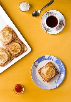 Breakfast, Sandwich, Tea, Beverage
