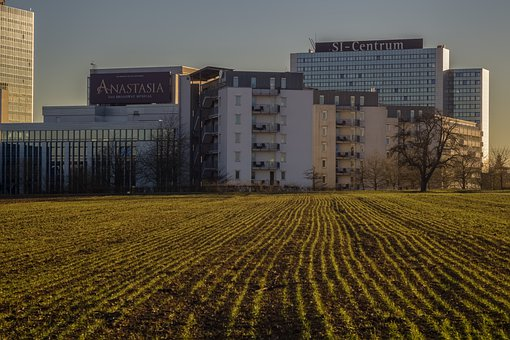 Building, Hotel, Field, Si-centrum, Stuttgart, Germany