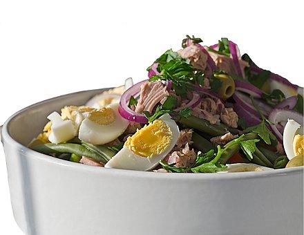 Salad, Nicoise, Tuna, Healthy, Vegetarian, Fresh