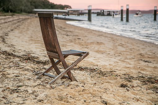 Seat, Vintage, Seaside, Sand, Sunset, Holiday, Moody