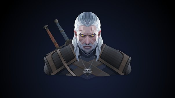 Character, Drawing, Warrior, Armour, Geralt, Witcher