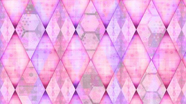 Rhomboid, Rhombus, Checkered, Mosaic, Background