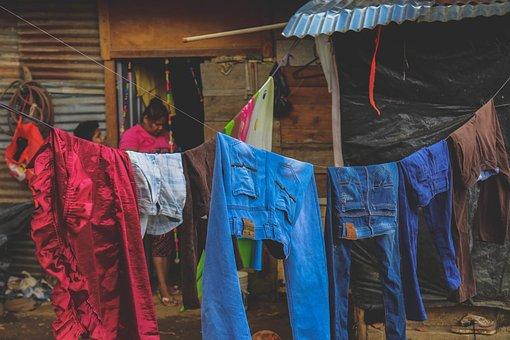 Clothes Line, Clothing, Dyring, Washing Line