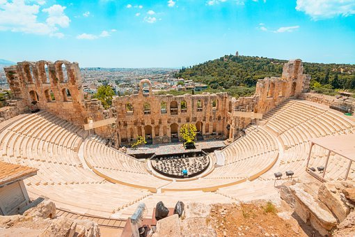 Greek, Theater, Greece, Monument, Antiquity, Culture