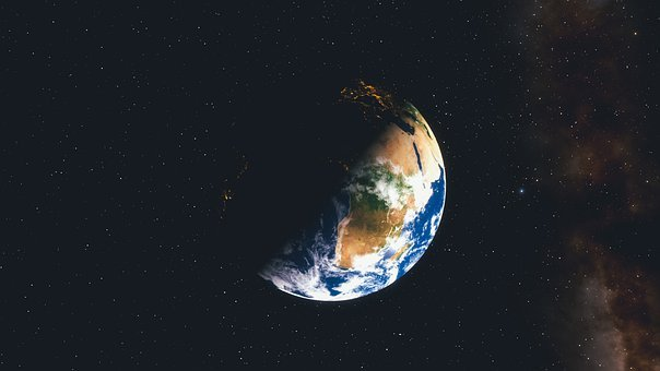 Earth, Planet, Blue, Night, Space, Astronomy, Sky