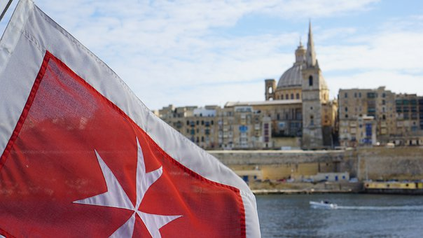 Malta, Flag, Port