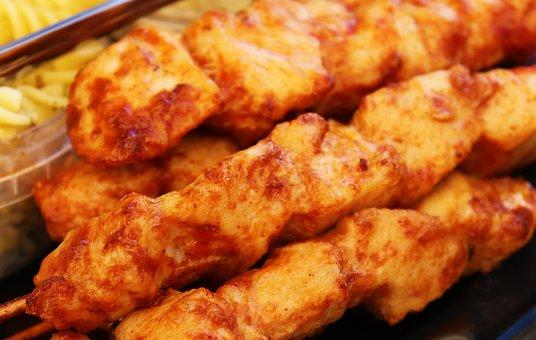 Chicken, Grilled, Grilled Chicken, Stick, Healthy