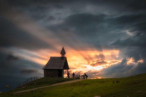 Chapel, Landscape, Sky, Kampenwand, Alpine, Chiemsee