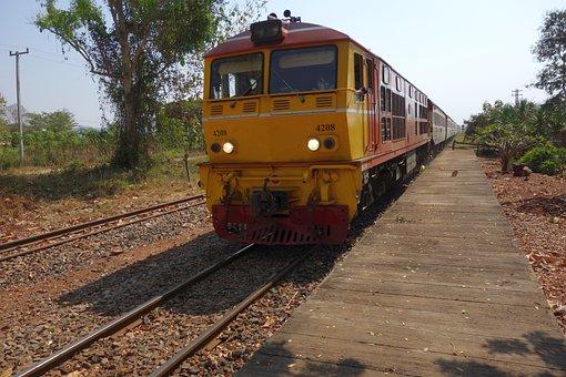 Train, Locomotive, Thailand