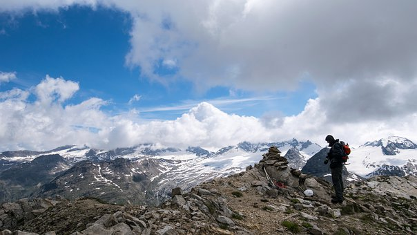 Mountains, Cloud, Snow, Cold, Mountaineering