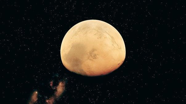 Mars, Planet, Blue, Night, Space, Astronomy, Sky