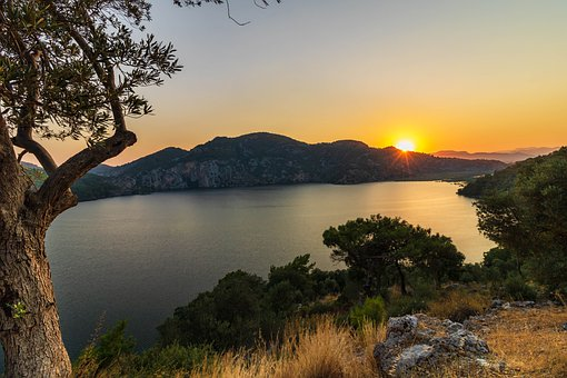 Turkey, Landscape, Sunset, Lake, Dead Sea, Ege