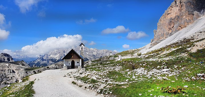 Alpine, Dolomites, View, Mountains, Mountain Landscape