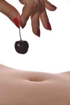 Fruit, Cherry, Body, Nude, Body Scape, Woman, Skin