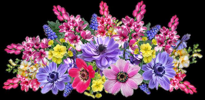 Flowers, Spring, Arrangement, Greeting Card, Decoration