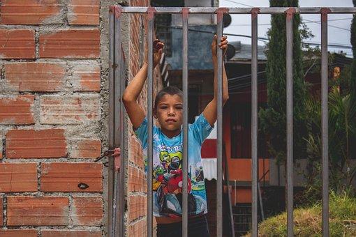Kid, Boy, Child, Gate