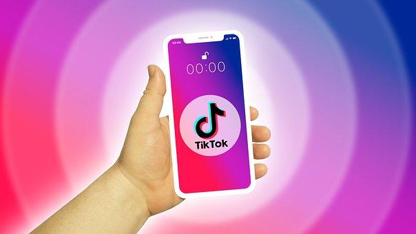Tiktok, Smartphone, Hand, Screen, Mobile Phone, Phone