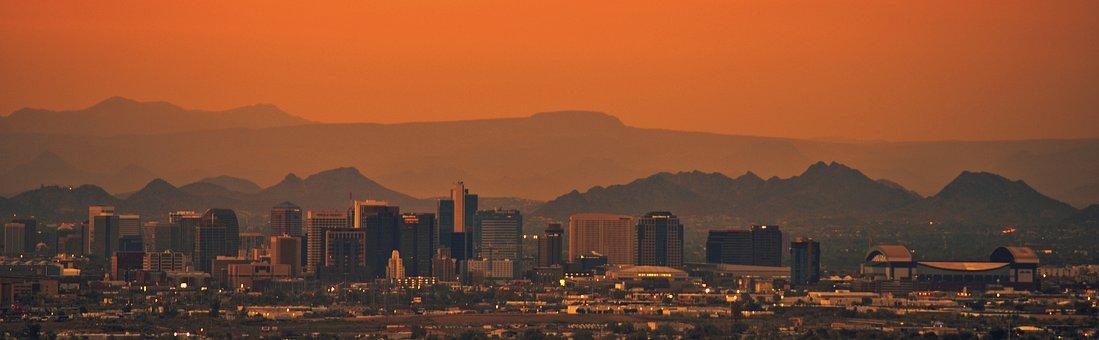 Phoenix, Landscape, Hot, Urban, Desert, Southwest, Heat
