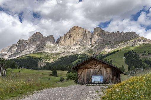 Mountain Hut, Mountains, Refuge, Landscape