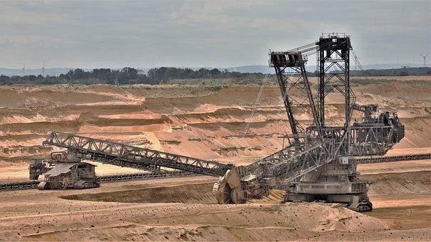 Excavators, Coal Mining, Sand, Shovel, Industry