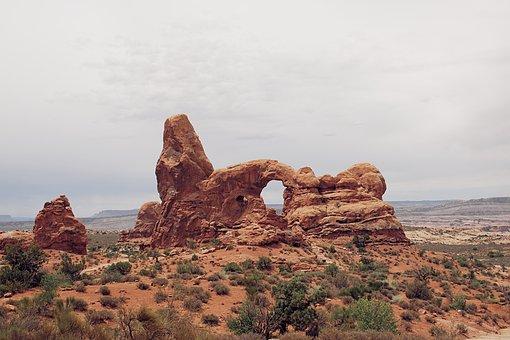 Arches, Arch, Sand, Stone, Sky, Hike, Utah, Ut