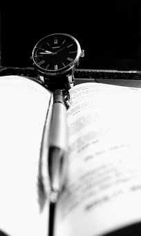 Watch, Pencil, Notes, Book, Time, Write