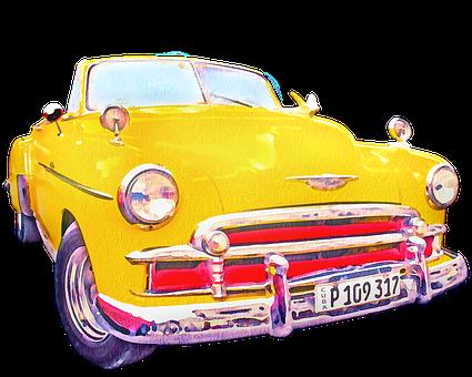 Car, Vehicle, Taxi, Cab, Retro, Transport
