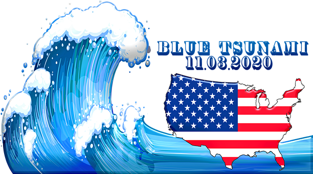 Wave, Usa, Flag, Stars, Stripes, Vote, Election