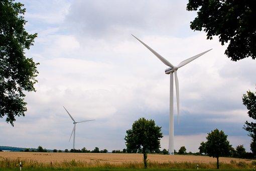Windmills, Field, Grass, Meadow, Pinwheel, Wind