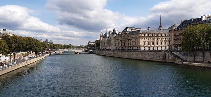 Bridge, Monument, Building, Architecture, Paris, Seine
