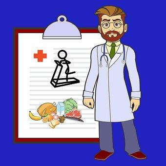 Doctor, Diet, Exercise, Prescription, Health, Medical
