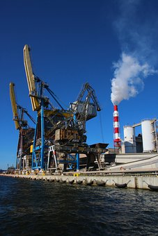 Port, Factory, Industrial, Architecture, Phosphors