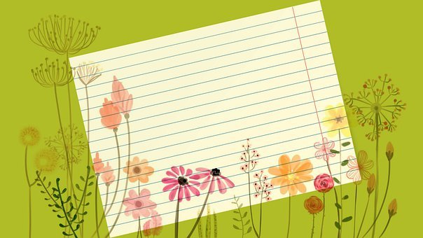 Flowers, Floral, Bloom, Spring, Note, Memo, Message