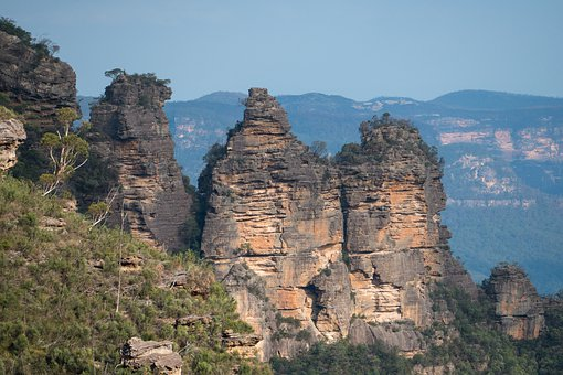 Rocks, Mountains, Forest, Trees, Katoomba