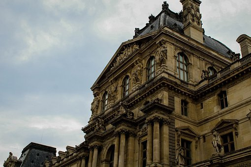 Building, Facade, Monument, City, Famous, Louvre