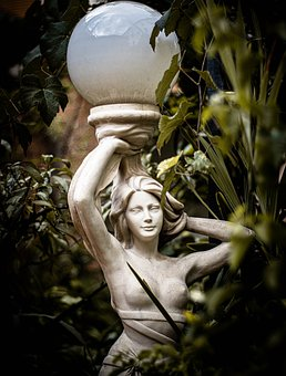 Statue, Sculpture, Plant, Old, Garden, Figure, Face