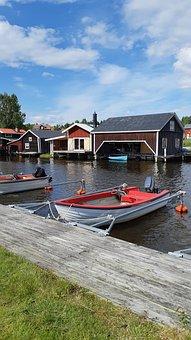 Sea, Boats, Summer, Sunny, Nature, Sweden
