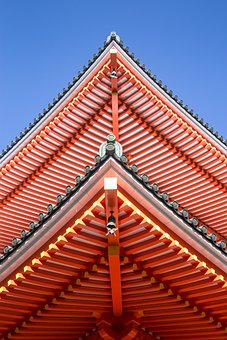 Temple, Roof, Architecture, Colorful, Bright, Kyoto